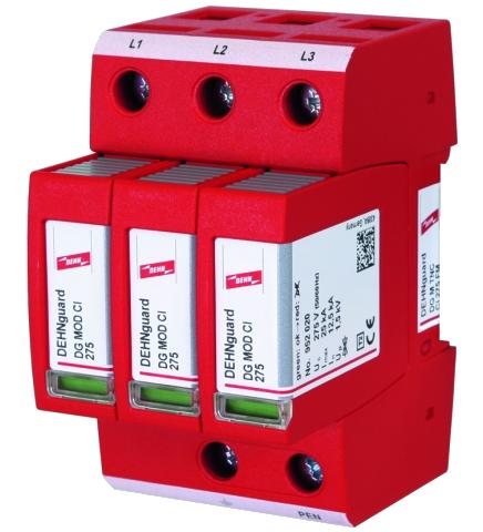 Supresor de rayo y sobretensión DEHNguard M TNC CI 275 FM 952309
